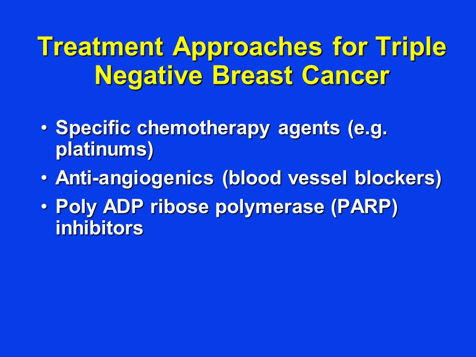 Treatment Approaches for Triple Negative Breast Cancer