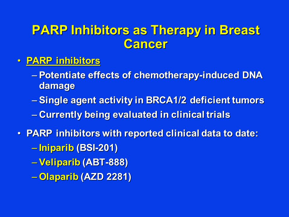 PARP Inhibitors as Therapy in Breast Cancer