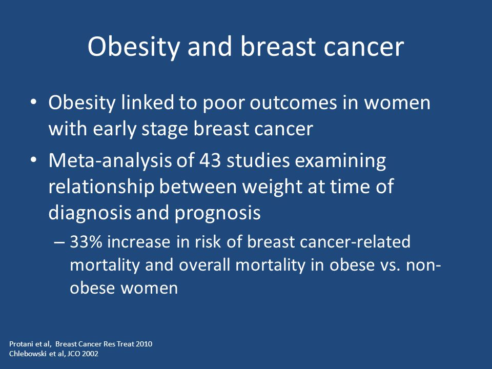 Obesity and breast cancer