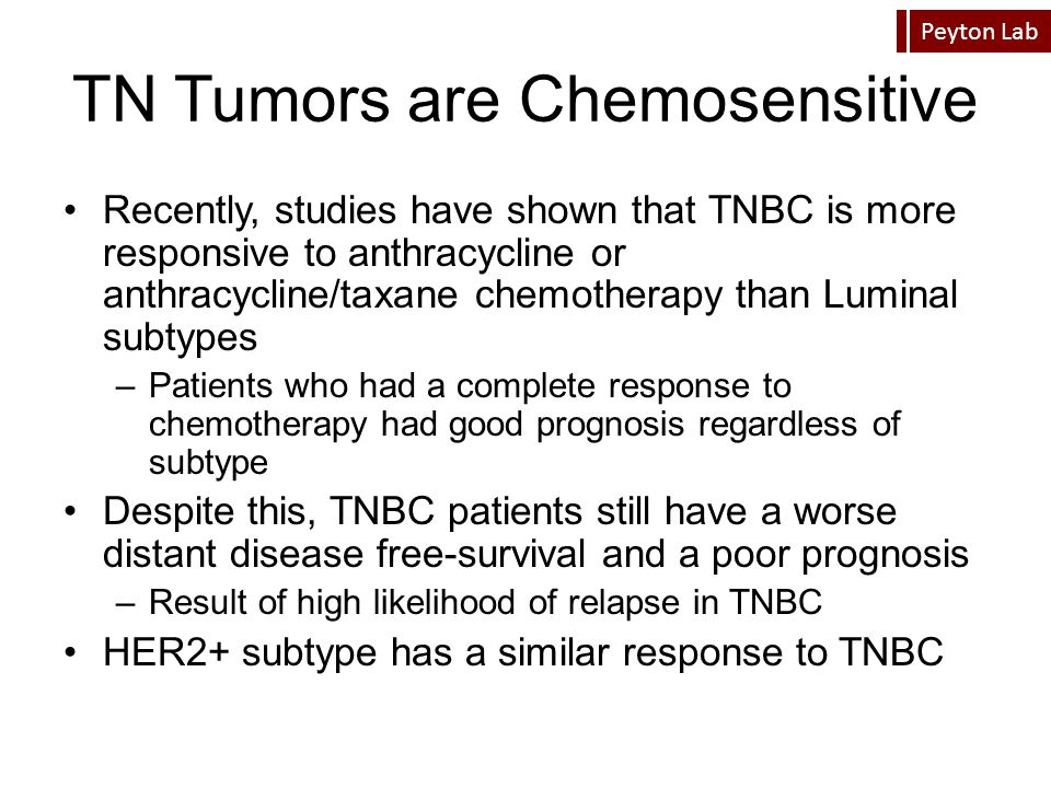 TN Tumors are Chemosensitive