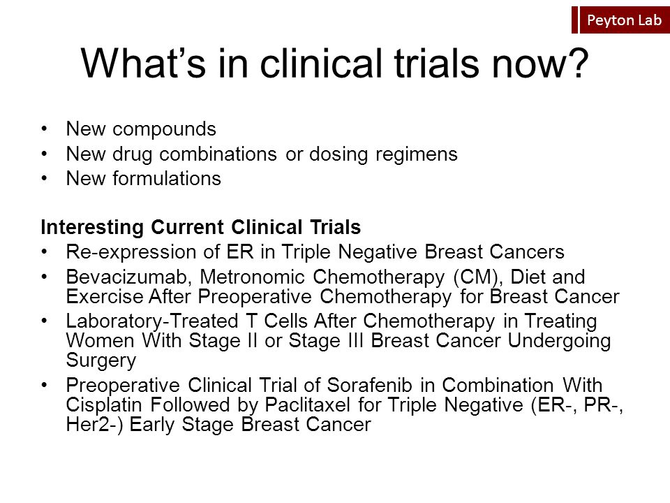 What's in clinical trials now