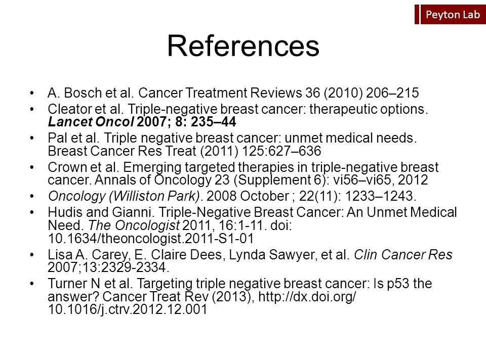 References A. Bosch et al. Cancer Treatment Reviews 36 (2010) 206–215