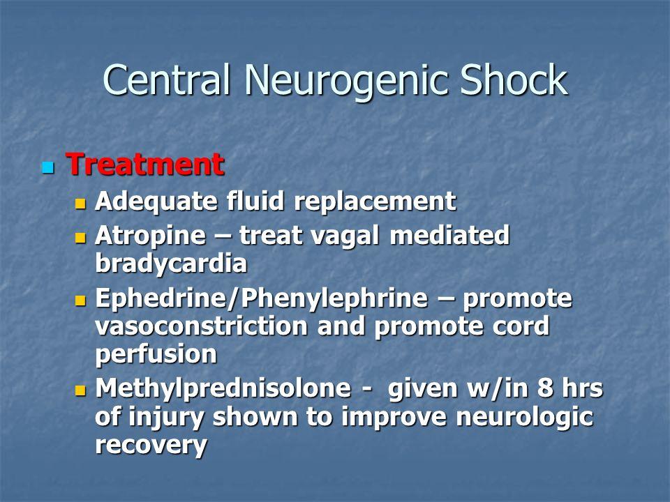 Central Neurogenic Shock