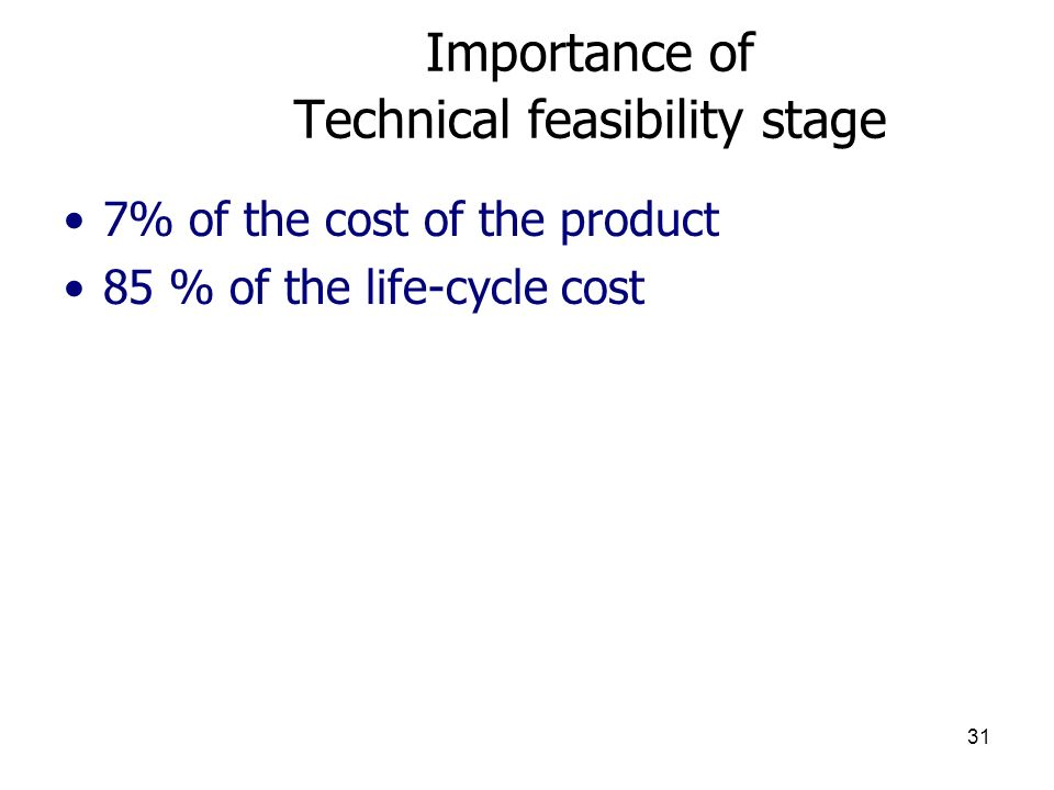 Importance of Technical feasibility stage