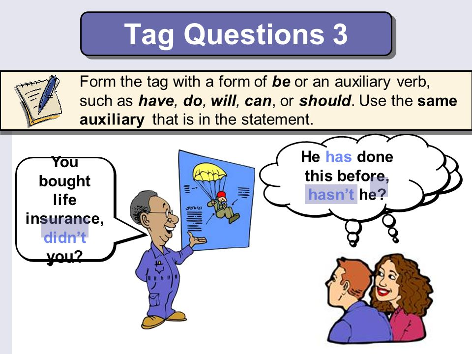 Tag Questions 3