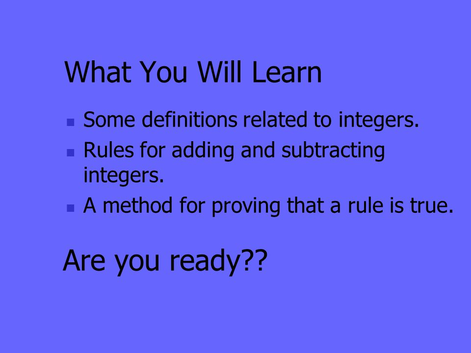 What You Will Learn Are you ready