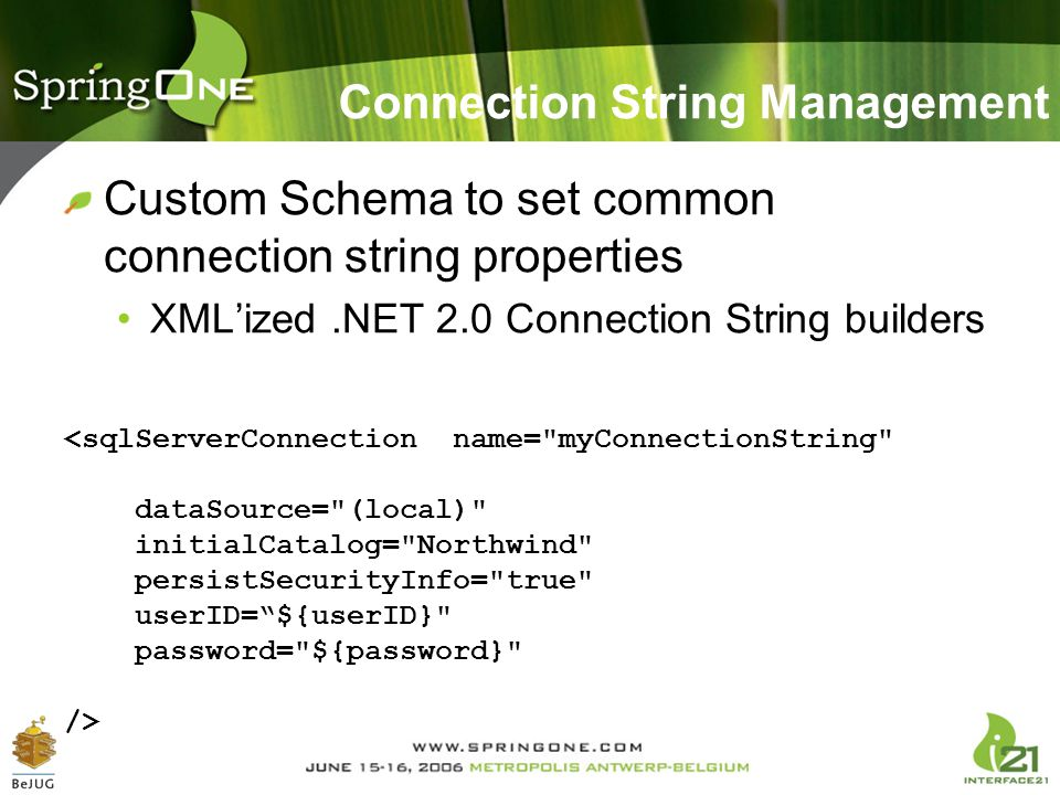 Connection String Management