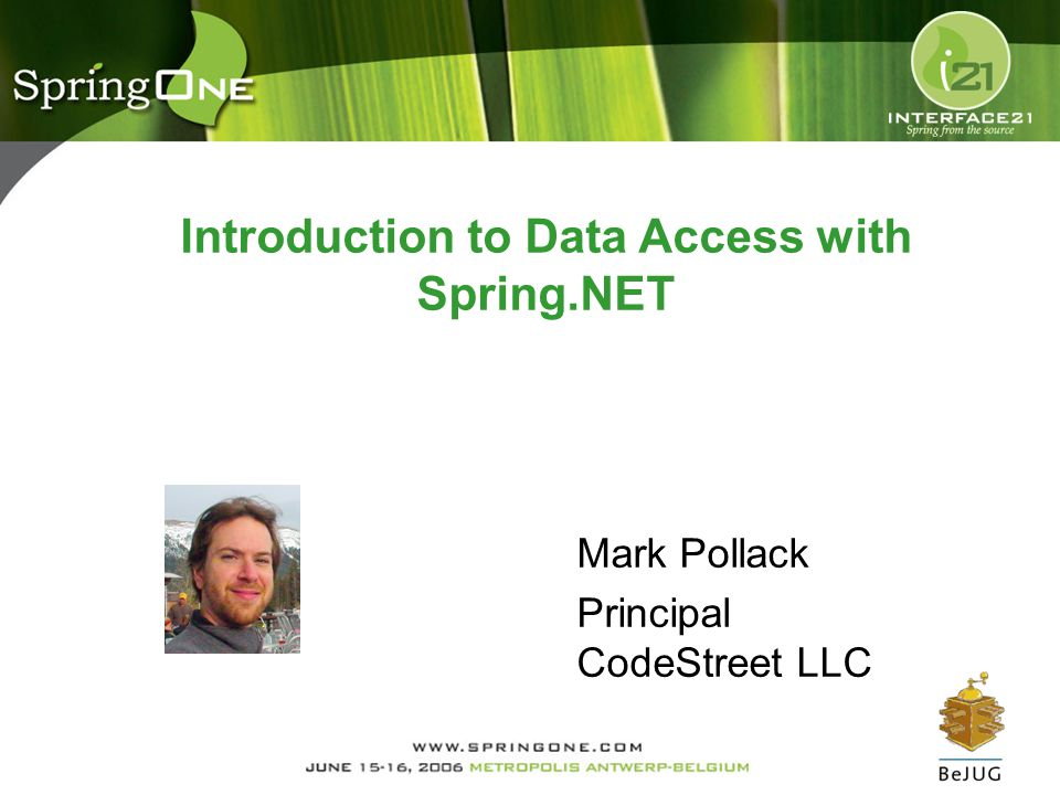 Introduction to Data Access with Spring.NET