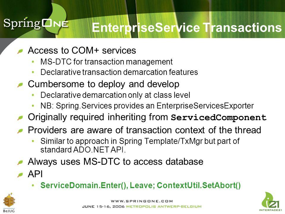 EnterpriseService Transactions