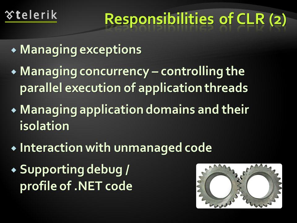 Responsibilities of CLR (2)