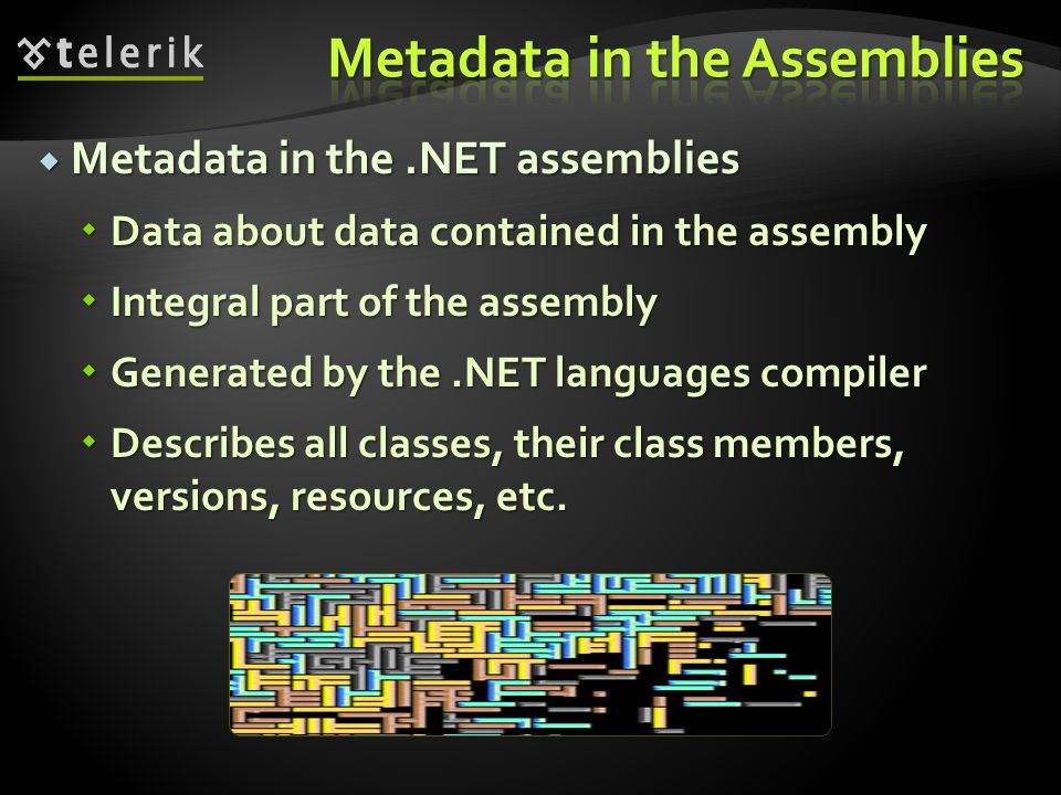 Metadata in the Assemblies