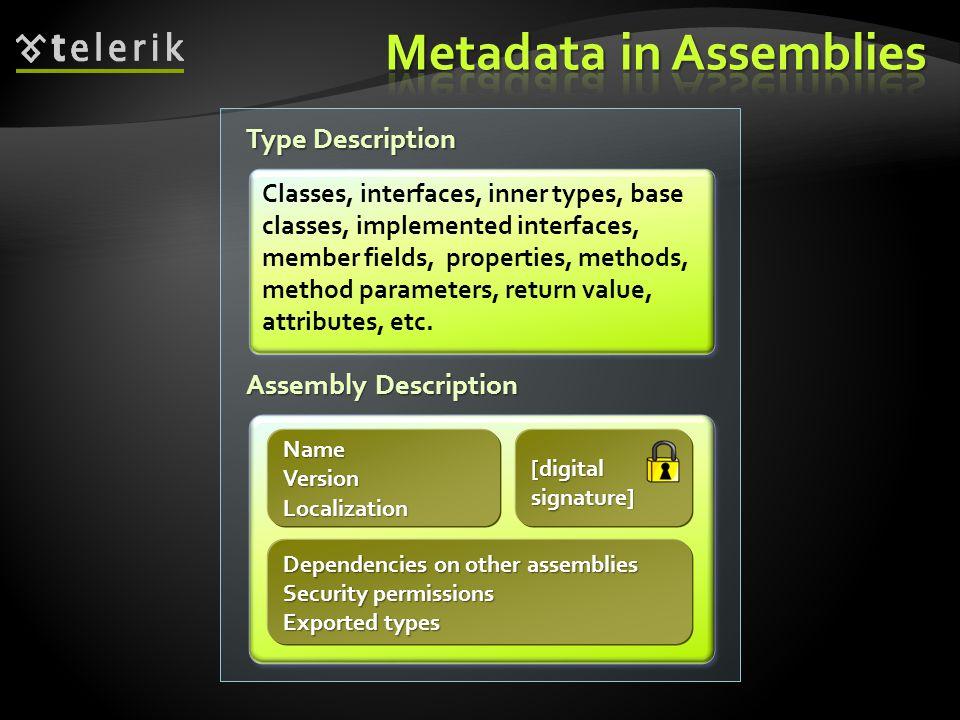 Metadata in Assemblies