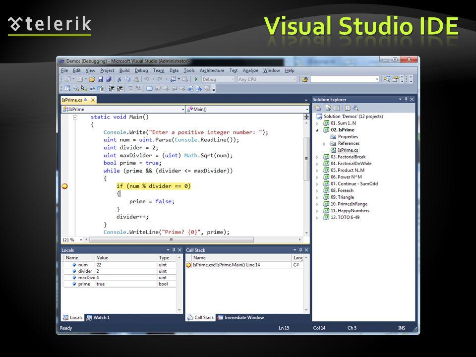 * 07/16/96. Visual Studio IDE.