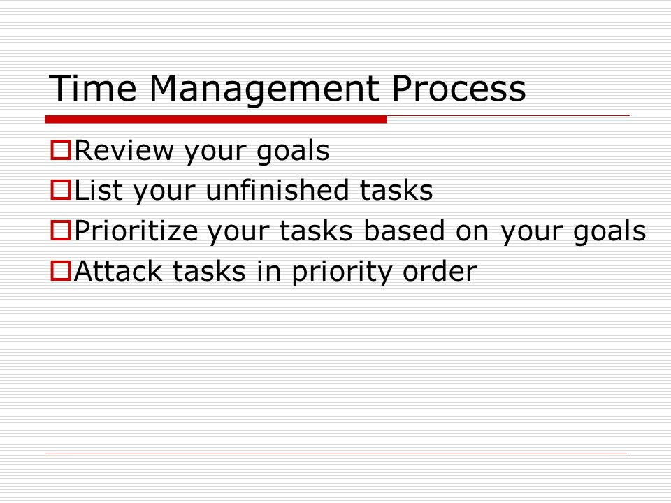 Time Management Process