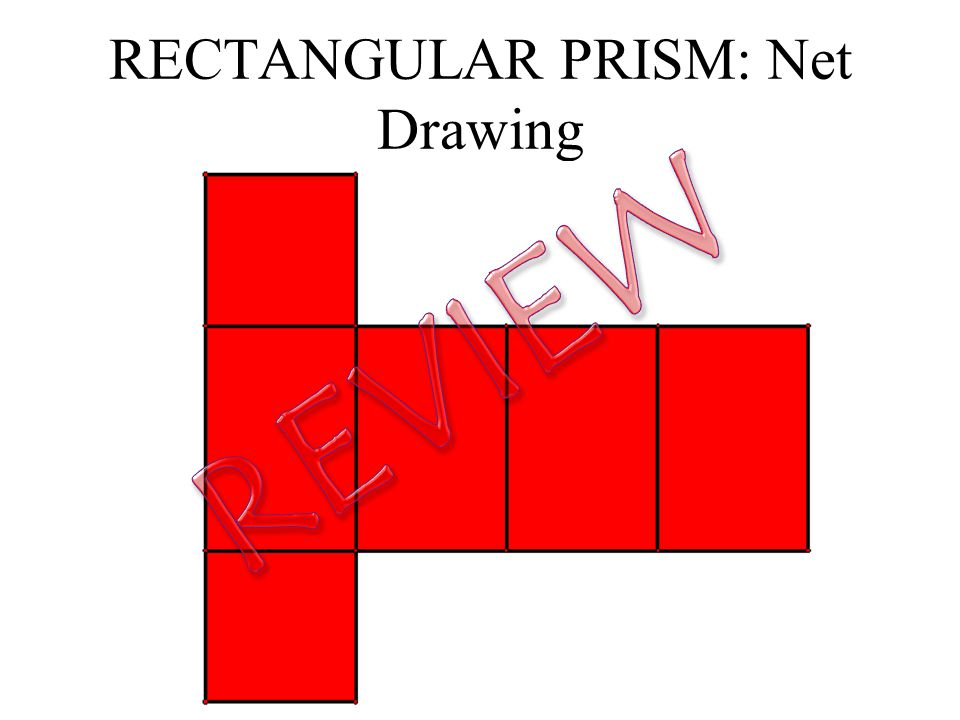 how to draw a rectangular prism net