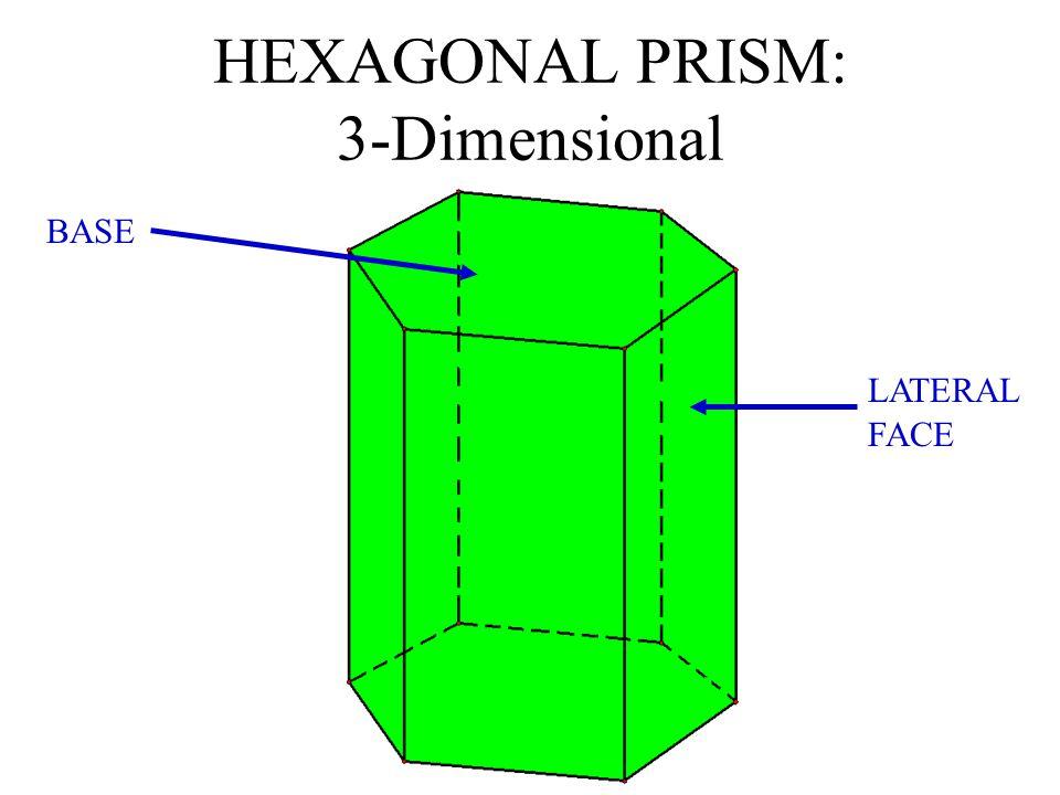 HEXAGONAL PRISM: 3-Dimensional