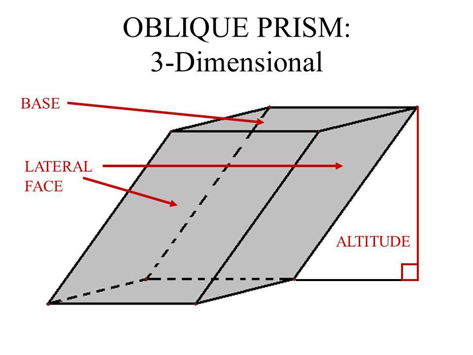 OBLIQUE PRISM: 3-Dimensional
