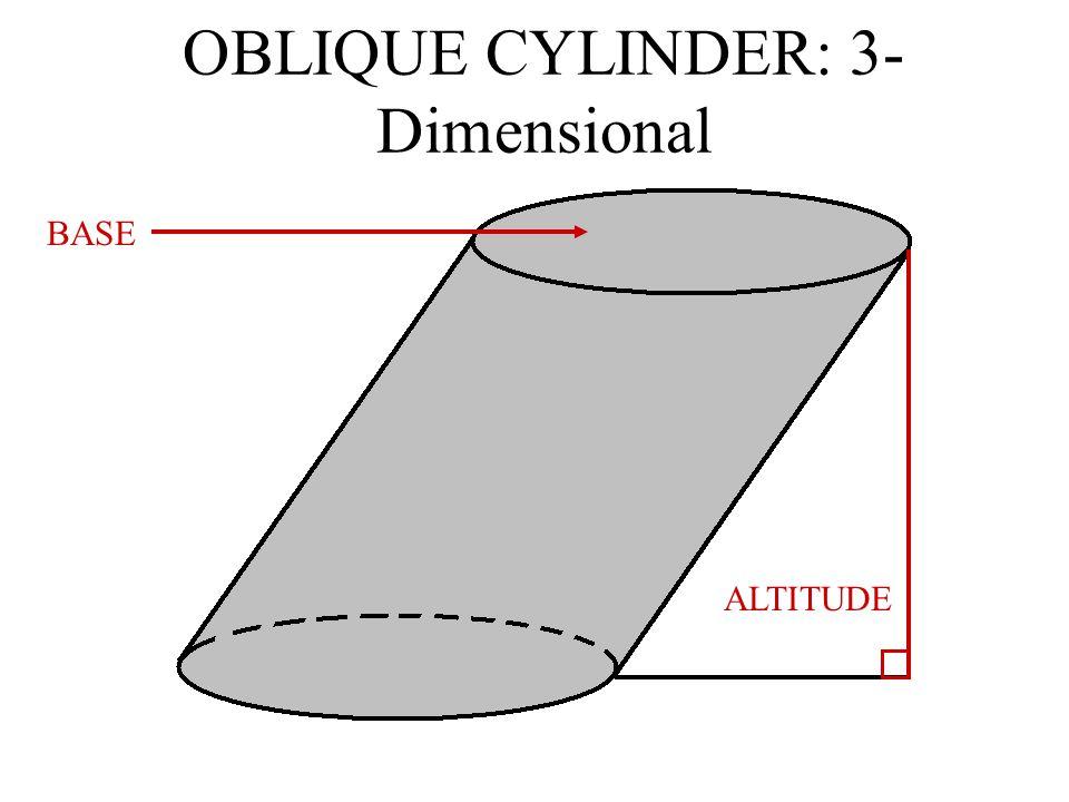 OBLIQUE CYLINDER: 3-Dimensional