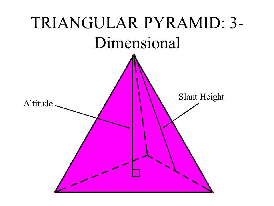TRIANGULAR PYRAMID: 3-Dimensional