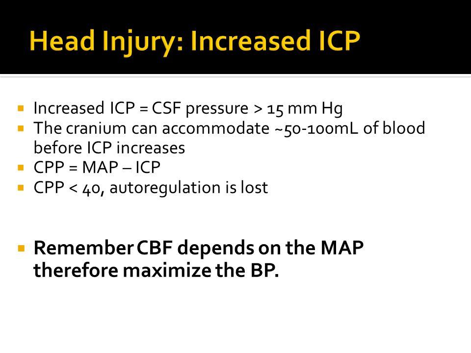 Head Injury: Increased ICP