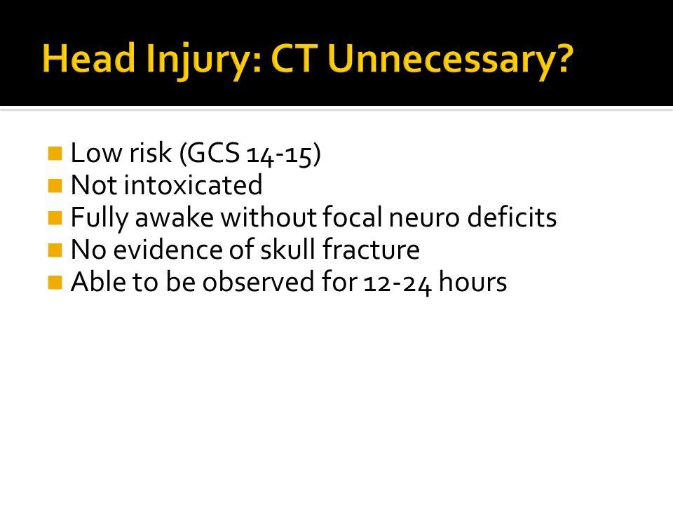 Head Injury: CT Unnecessary