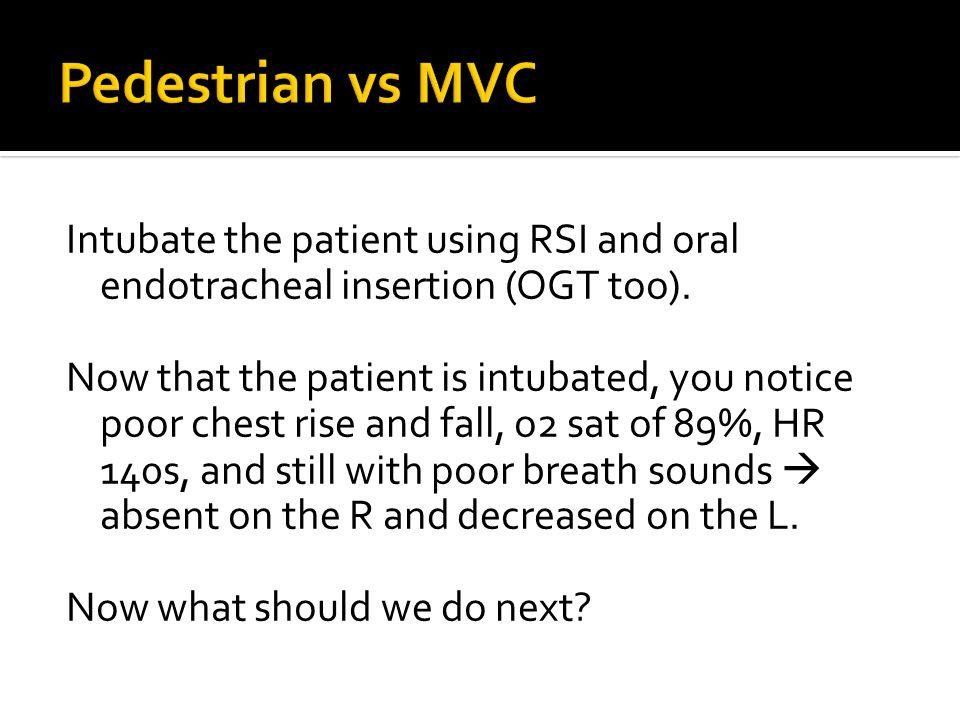 Pedestrian vs MVC