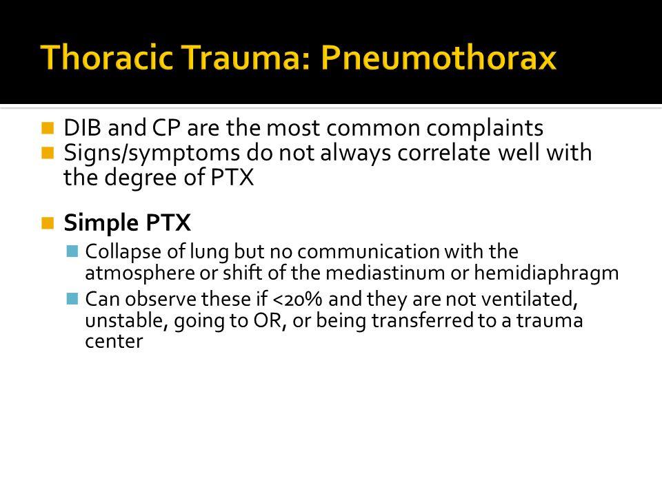 Thoracic Trauma: Pneumothorax