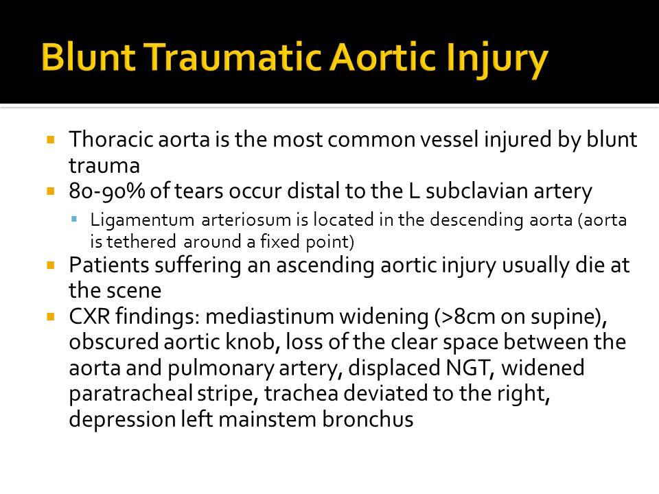 Blunt Traumatic Aortic Injury