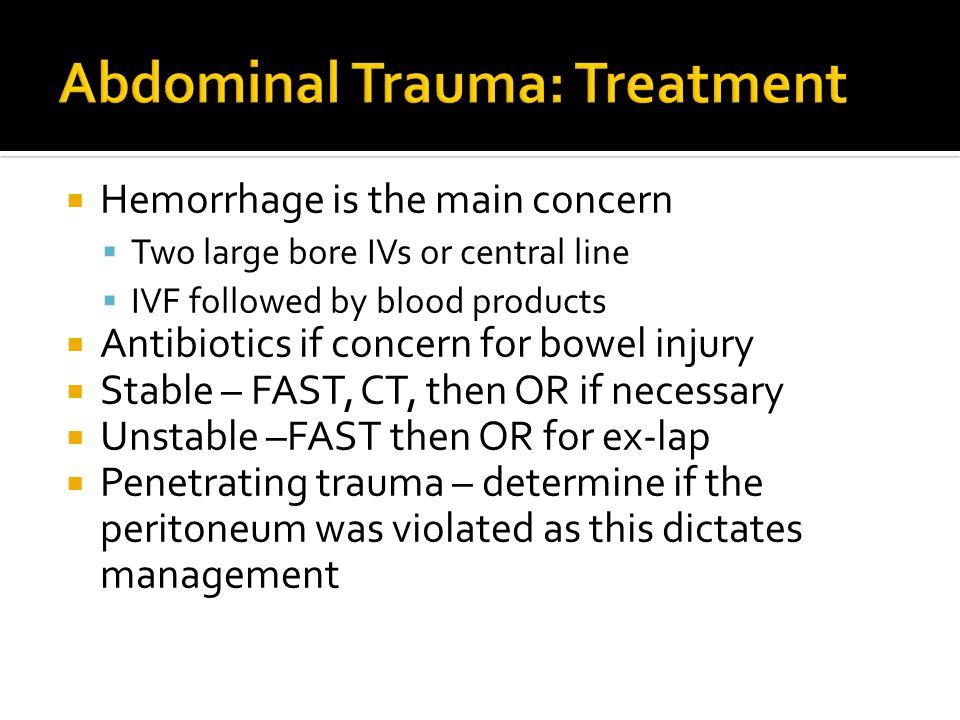 Abdominal Trauma: Treatment