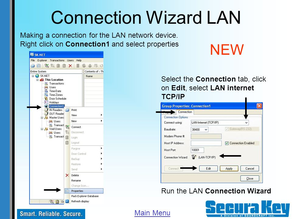Connection Wizard LAN NEW