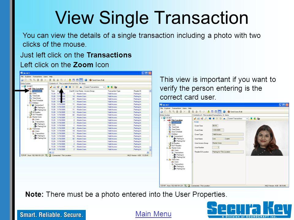 View Single Transaction