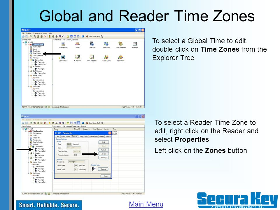 Global and Reader Time Zones