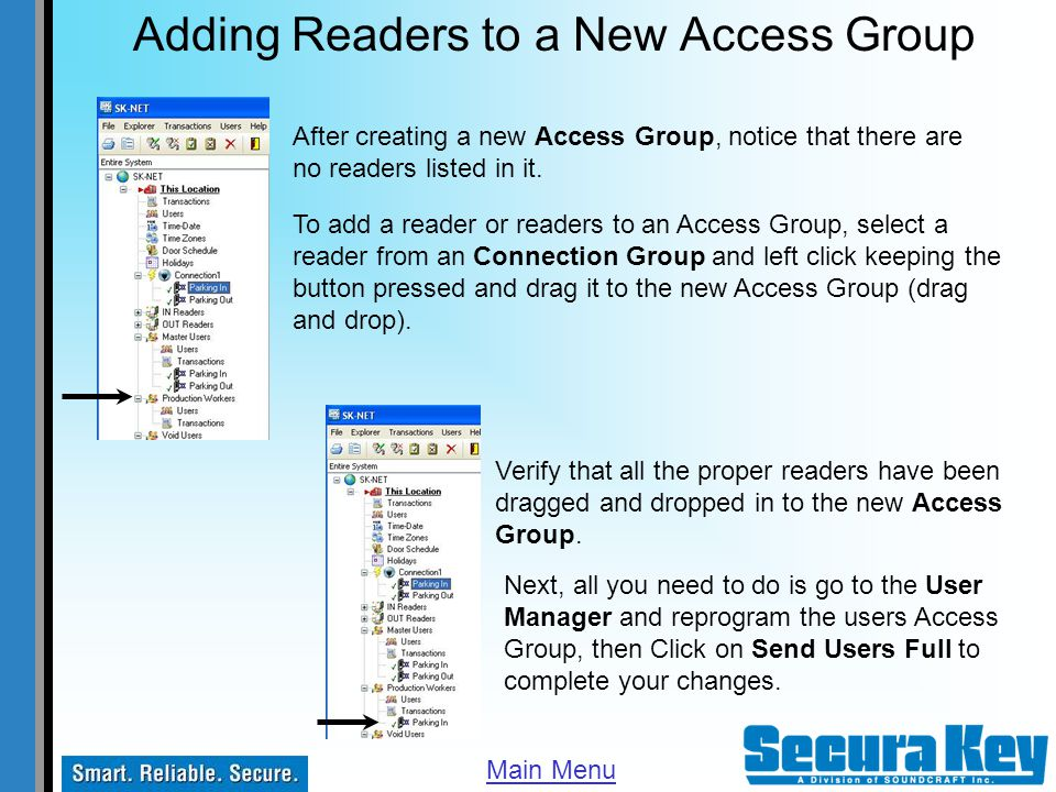 Adding Readers to a New Access Group
