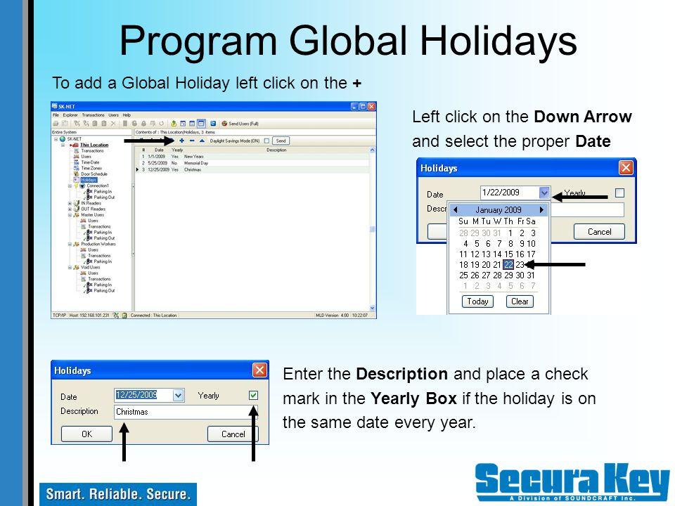 Program Global Holidays