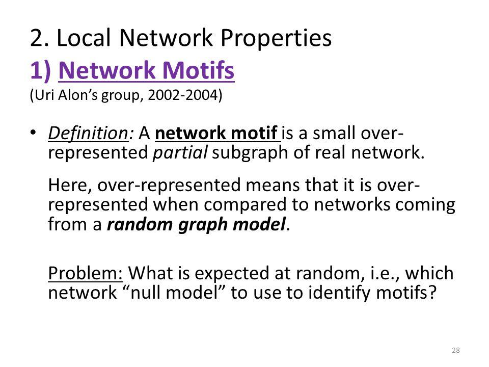 2. Local Network Properties 1) Network Motifs