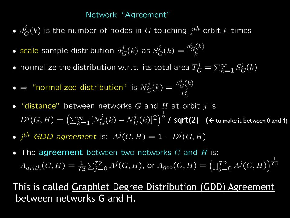 This is called Graphlet Degree Distribution (GDD) Agreement