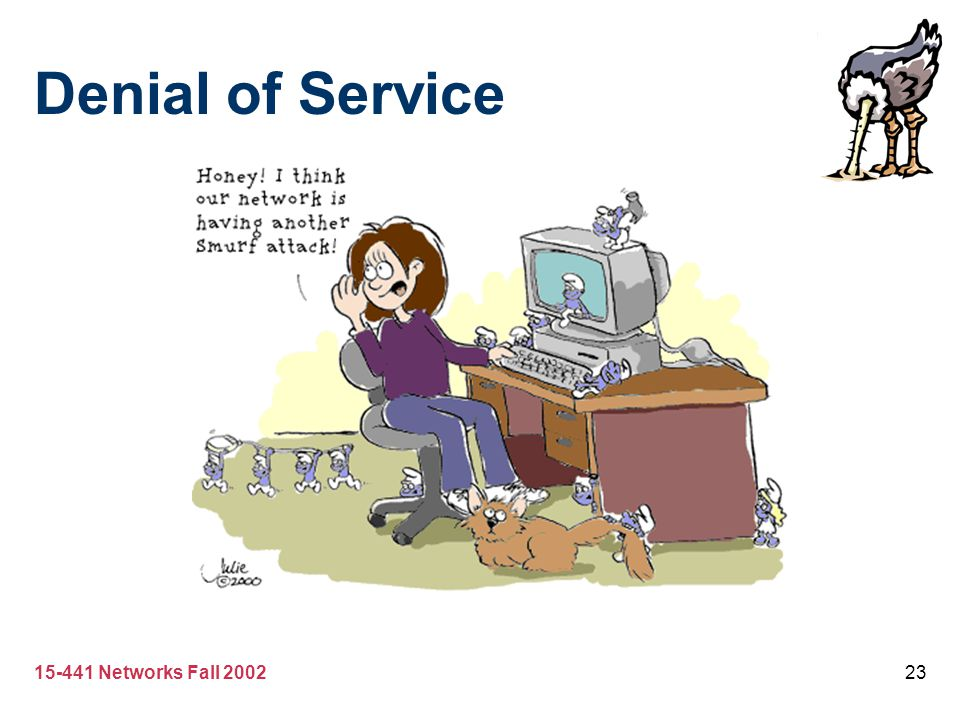 Denial of Service 15-441 Networks Fall 2002