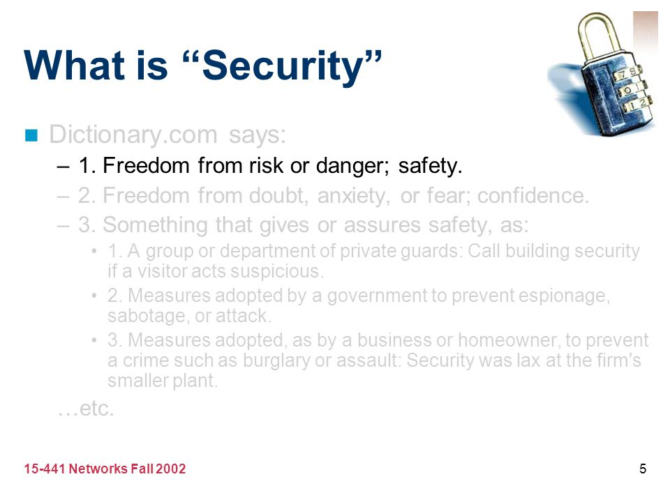 What is Security Dictionary.com says: