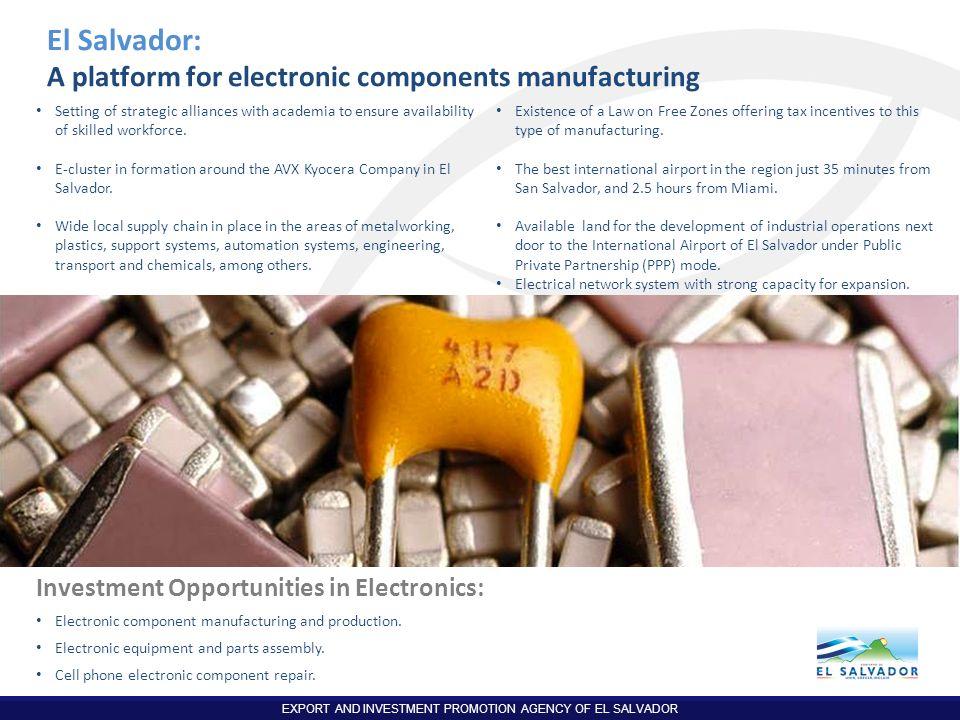 El Salvador: A platform for electronic components manufacturing