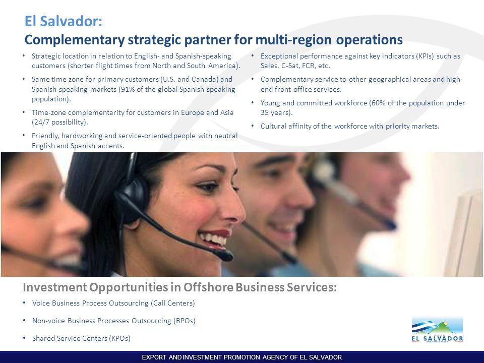 El Salvador: Complementary strategic partner for multi-region operations.