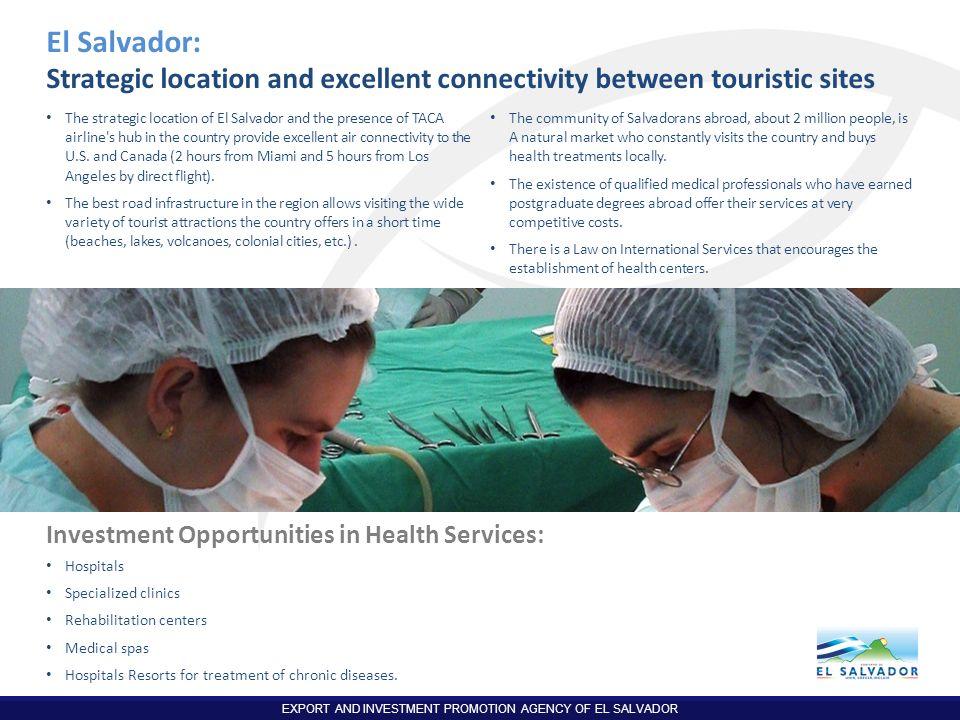El Salvador: Strategic location and excellent connectivity between touristic sites.