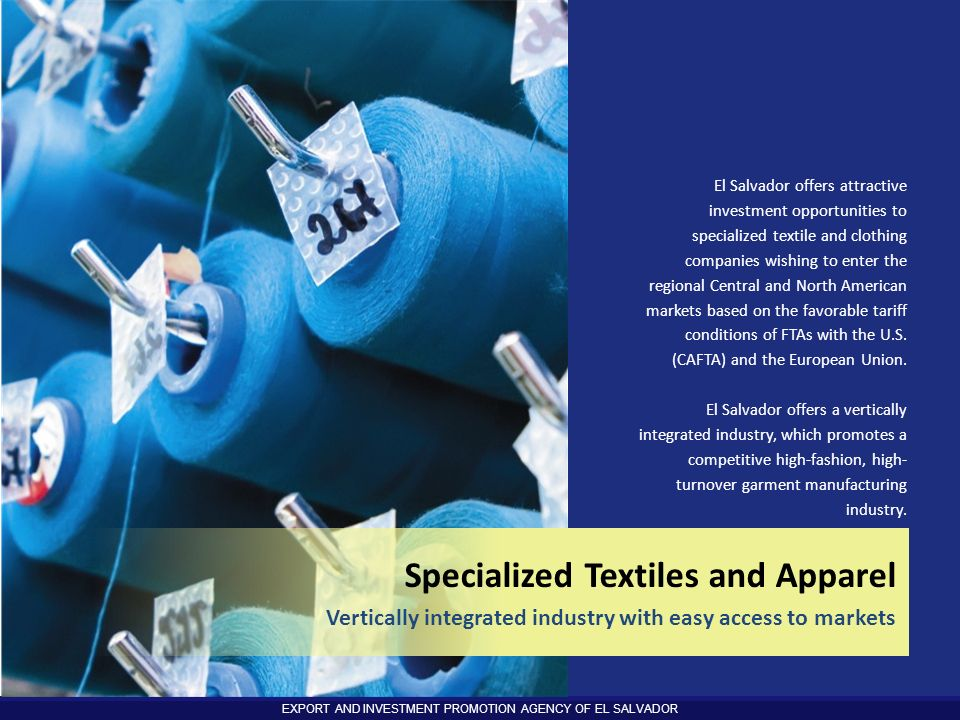 Specialized Textiles and Apparel