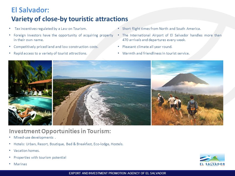 El Salvador: Variety of close-by touristic attractions