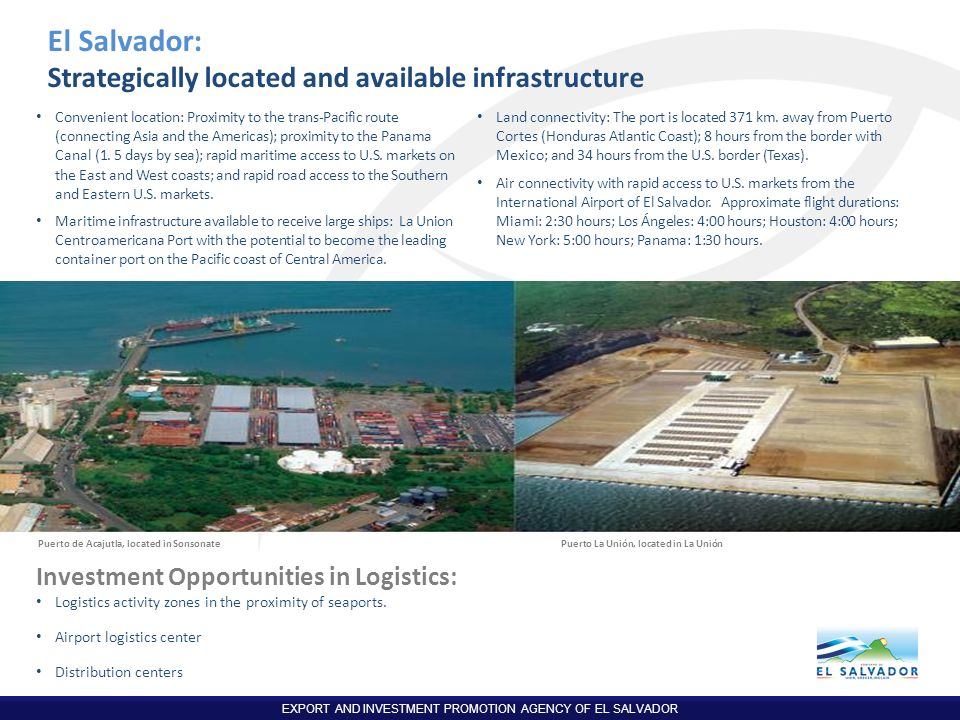 El Salvador: Strategically located and available infrastructure