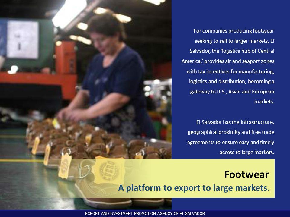 Footwear Logistics A platform to export to large markets.