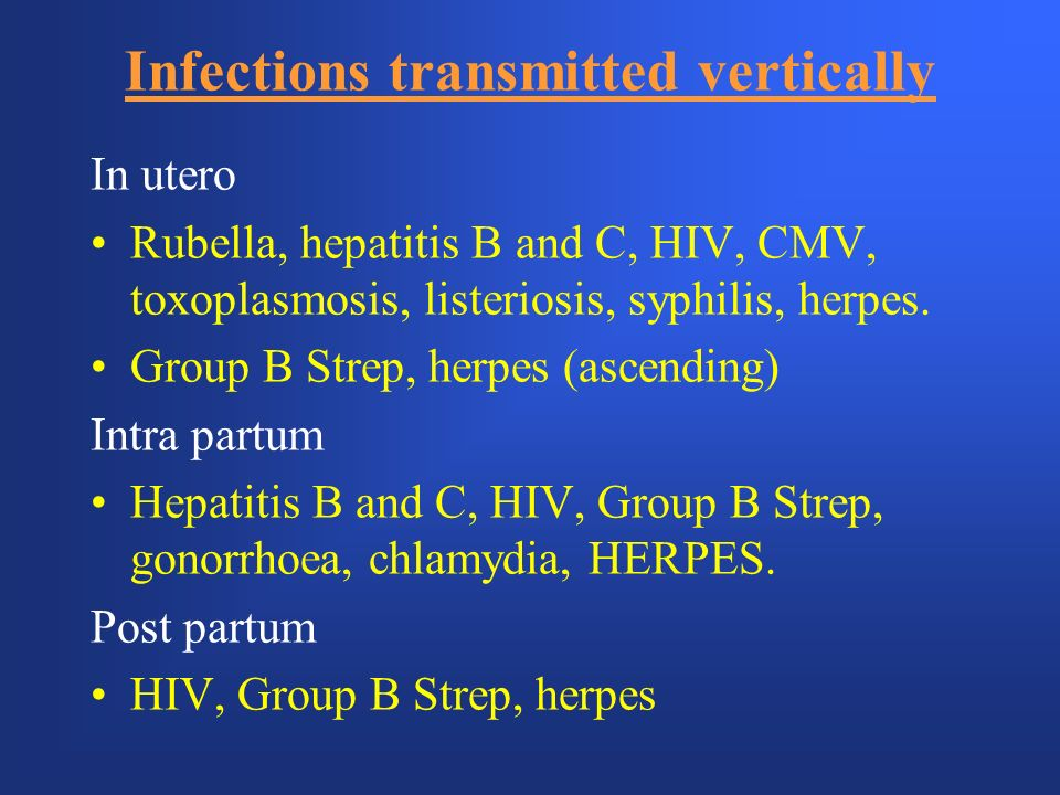 Infections transmitted vertically