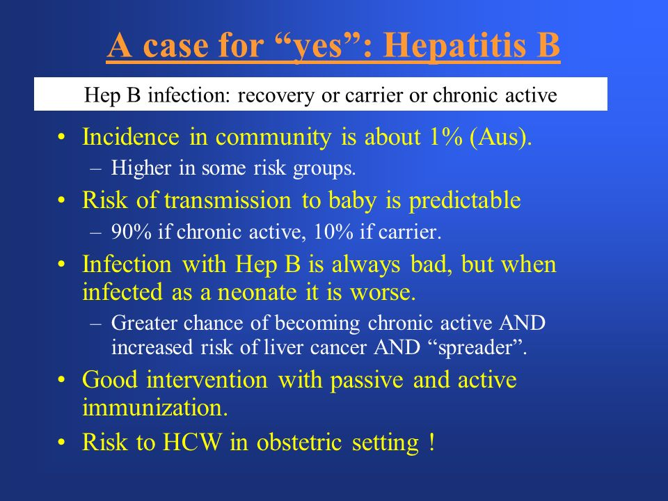 A case for yes : Hepatitis B