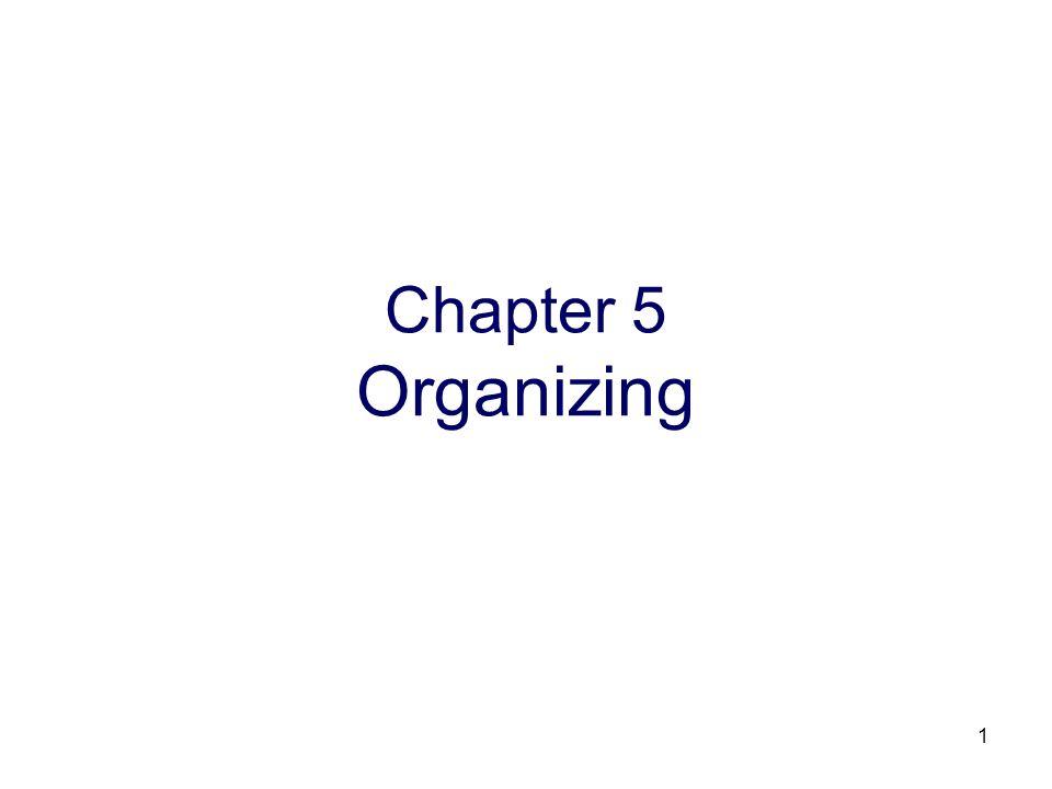 Chapter 5 Organizing