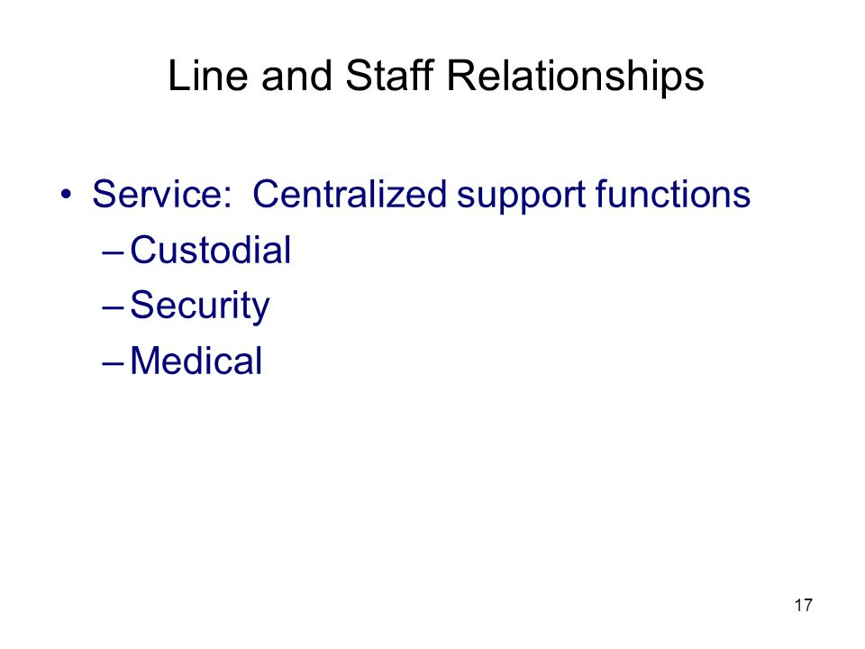 differentiate line and staff relationship