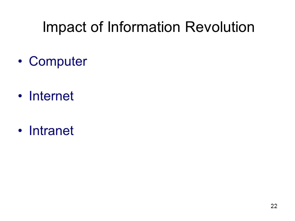 Impact of Information Revolution